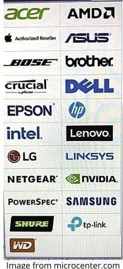 brands that are sold at micro center