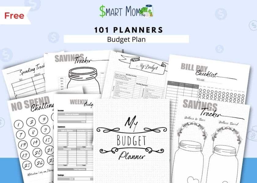 free printable budget templates by 101 planners