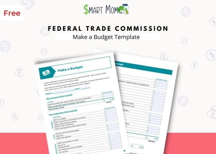 free printable budget templates mockup by federal trade commission
