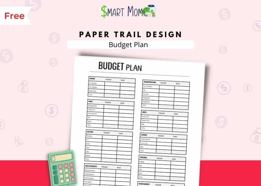 free printable budget templates mockup by paper trail design